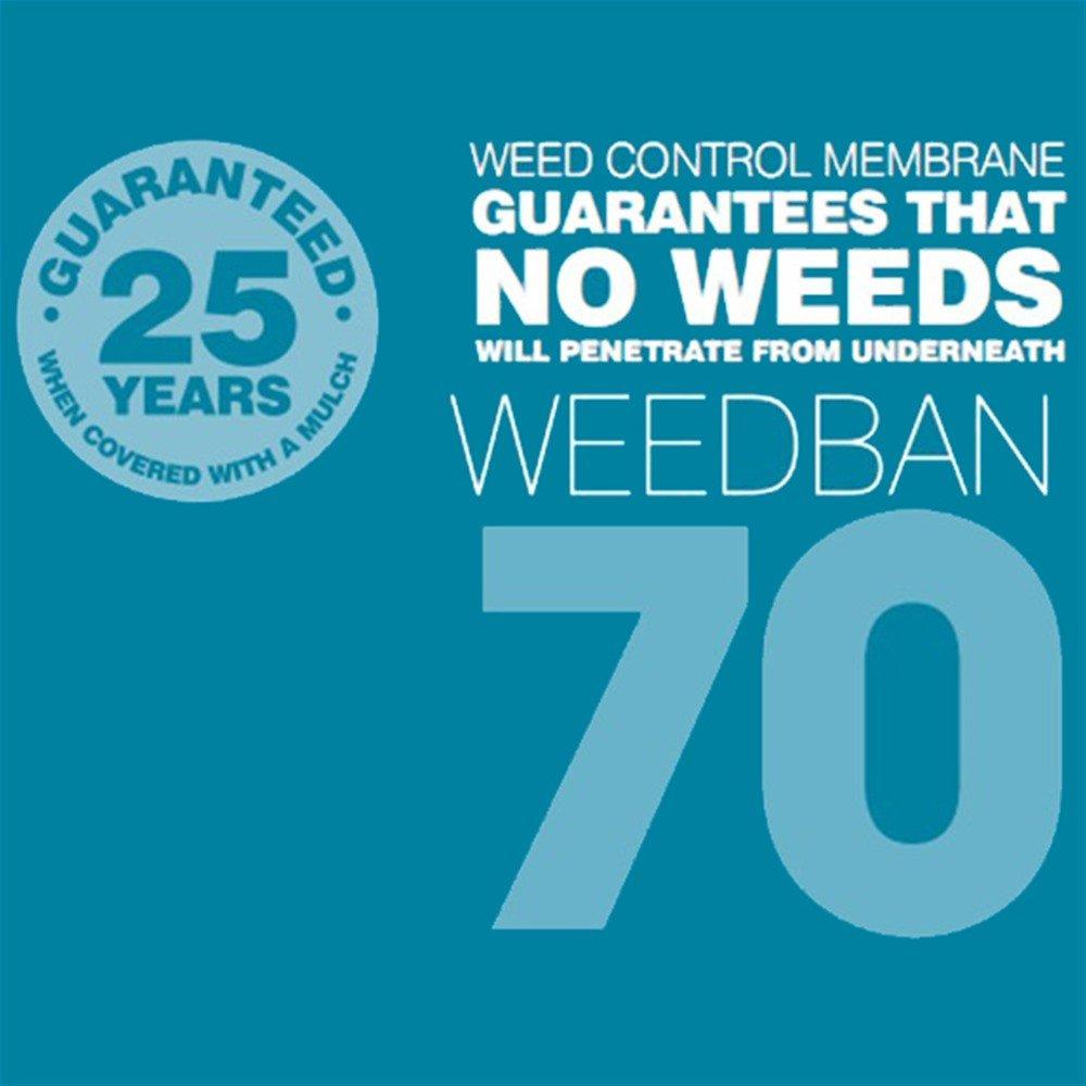 Nutley's 10 x 2 m Weedban 70 Weed Control Fabric - Black Nutley's