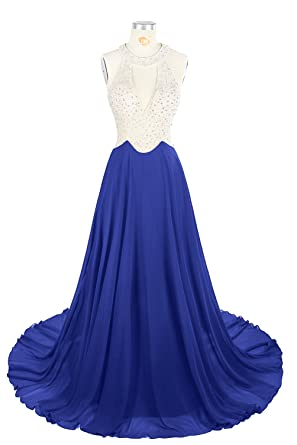 MsJune Crystal Beaded Prom Dresses 2017 Long Evening Gowns Formal