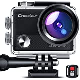 Crosstour CT9100 4K 20MP Action Camera with WiFi EIS LDC Remote Control Sports Camera 40M Waterproof Underwater…
