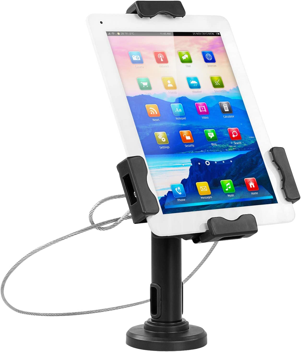 "Mount-It! Secure Universal Tablet POS Kiosk with Wall Bracket Add-on | Locking Tablet Stand with Adjustable Clamp for iPad 7, iPad Mini, Samsung Galaxy Tab, Surface Go & 7.9""- 10.5"" Tablets - MI-3784"