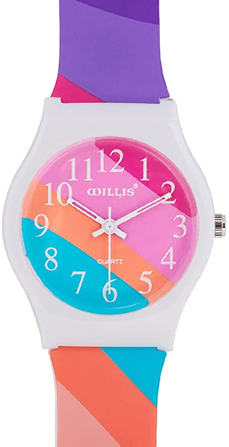 Amazon.com: Sunshine Boys Girls Watch Analog,Teenagers Kids Student Time Sport Wristwatch Comfortable Grid Soft Silicone Band Digital Dial Grid Lightweight ...