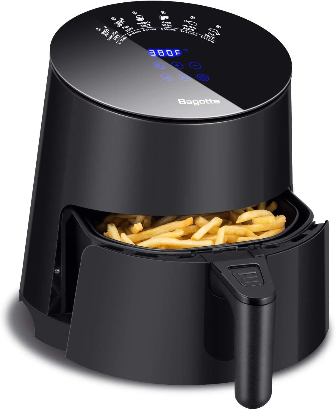 Bagotte 3.7 QT Capacity Programmable Hot Air fryer oven