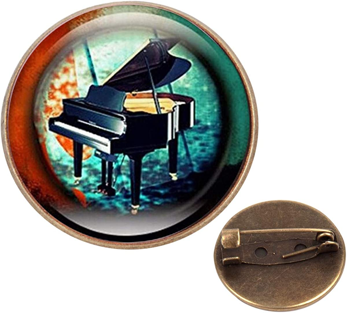 Pinback Buttons Badges Pins Music Jewelry Piano Keyboard Musicians Lapel Pin Brooch Clip Trendy Accessory Jacket T-Shirt Bag Hat Shoe