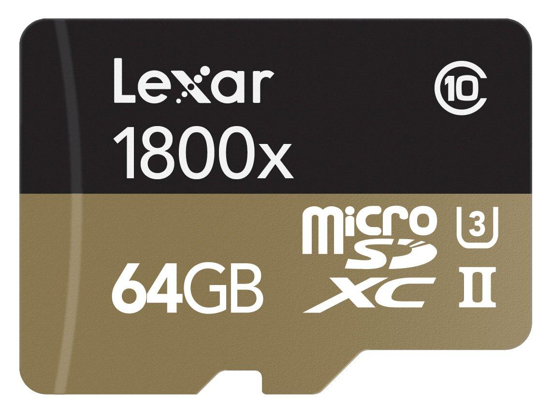 Lexar Professional 1800x microSDXC 64GB UHS-II W/USB 3.0 Reader Flash Memory Card - LSDMI64GCRBNA1800R