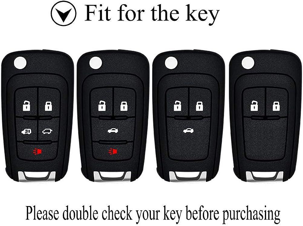 Senauto Quicksand Key Fob Cover Case Keychain for Chevy Chevrolet Buick GMC Terrain