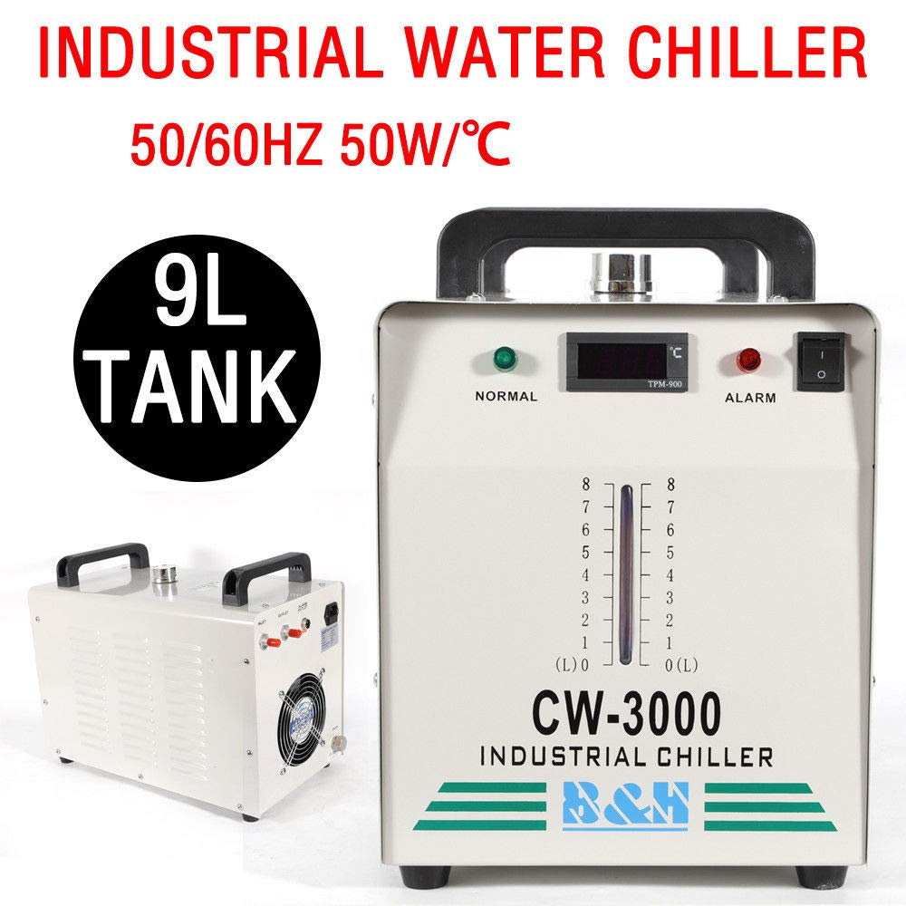 Water Chillers Industrial Water Chiller CW-3000 for CNC Engraver Engraving Machine USA Ship TBVECHI