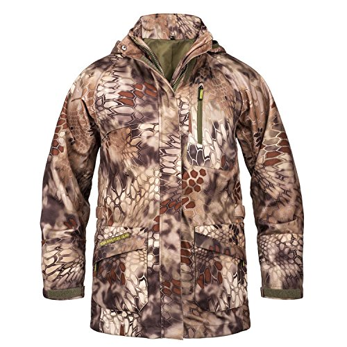 Koda Adventure Gear Youth Waterproof Hard Shell Jacket, Kryptek Highlander, Small (Youth (Bum Thermal)