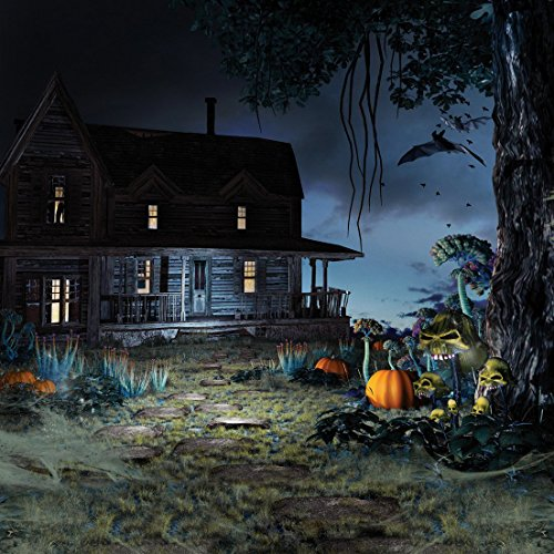 8x8ft Halloween Pumpkin & Horror Nights Moon & Mysterious Forest Hut & Costume Party Masquerade Decoration Photo Backdrops CP Customized Studio Background Studio Props WSJ-133 -