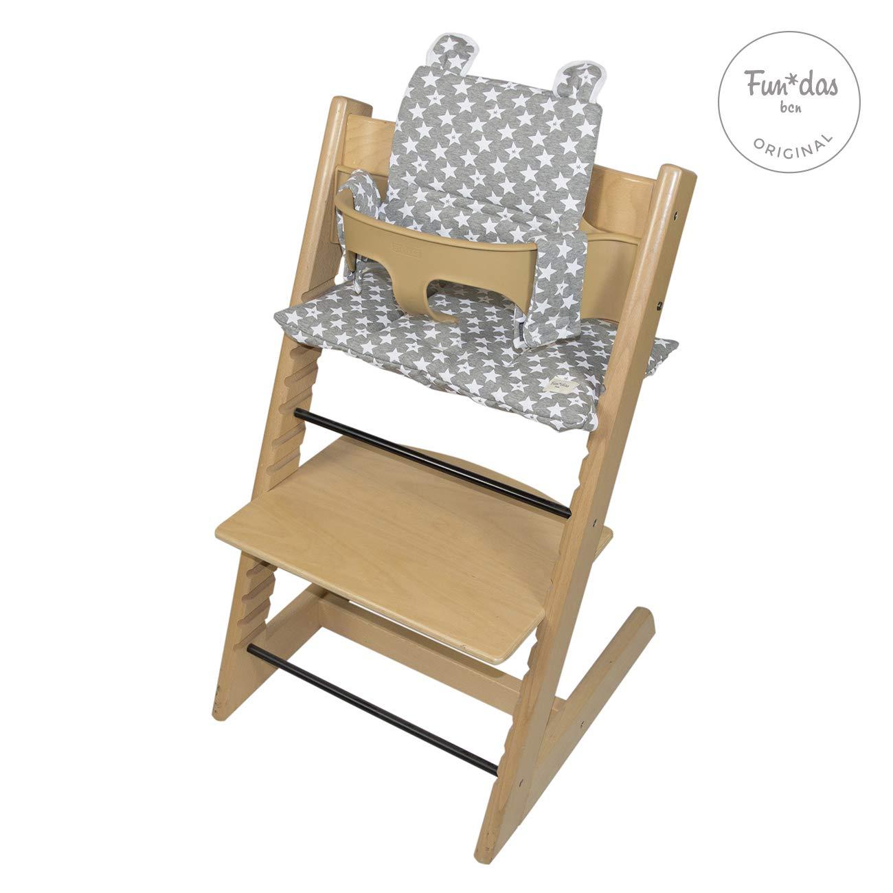 F135 Little Fun Peach Fundas BCN /® Cushion for Stokke Tripp Trapp /® Highchair