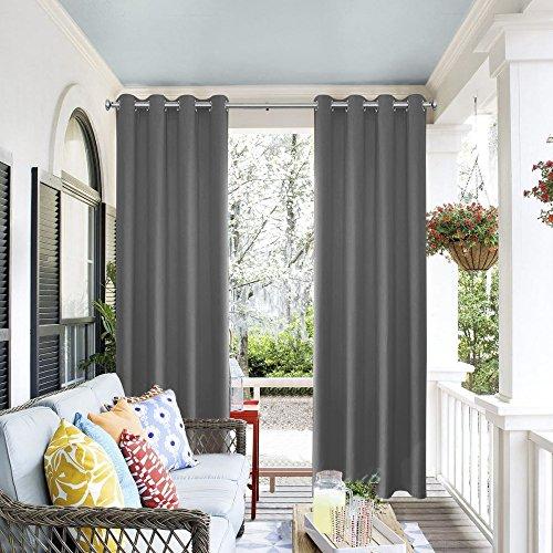 Cheap  PRAVIVE Blackout Outdoor Curtain Panel - Indoor/Outdoor Patio Gazebo Pergola Cabana Eyelet..