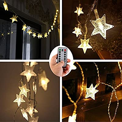 christmas tree decoration string lights100 led star 33 ft battery operated fairy lights with remote timeroutdoor christmas wedding festival lights for