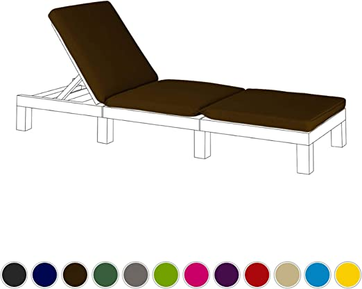 Marrón Cojín de asiento de repuesto para Keter Allibert Daytona exterior tumbona: Amazon.es: Jardín