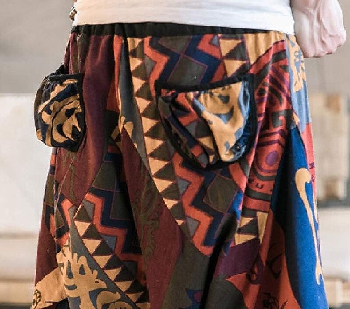 Mens National Style High Waist Casual Beach Short Pant