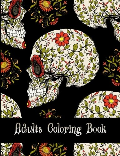 Adults Coloring Book: Stress Relief Coloring Books Relaxation , Sugar Skull,Women Large Print