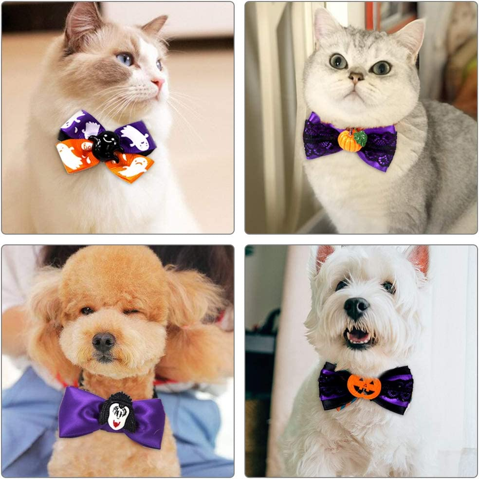 caicainiu Halloween Bat Wings Ties Pet Costumes for Small Dogs/&Cats Halloween Costume Dress Up Halloween Pet Apparel for Halloween Party Decorations S