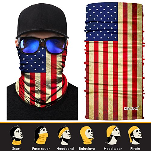 JOEYOUNG 3D Face Sun Mask, Neck Gaiter, Headwear,