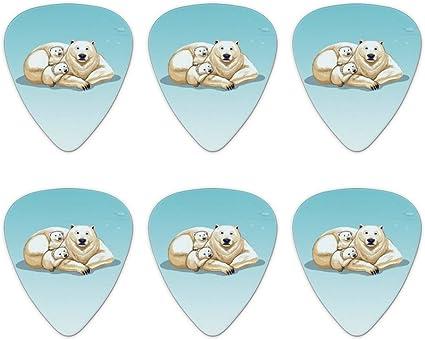 Oso Polar madre con crías familia – púas de guitarra de calibre ...