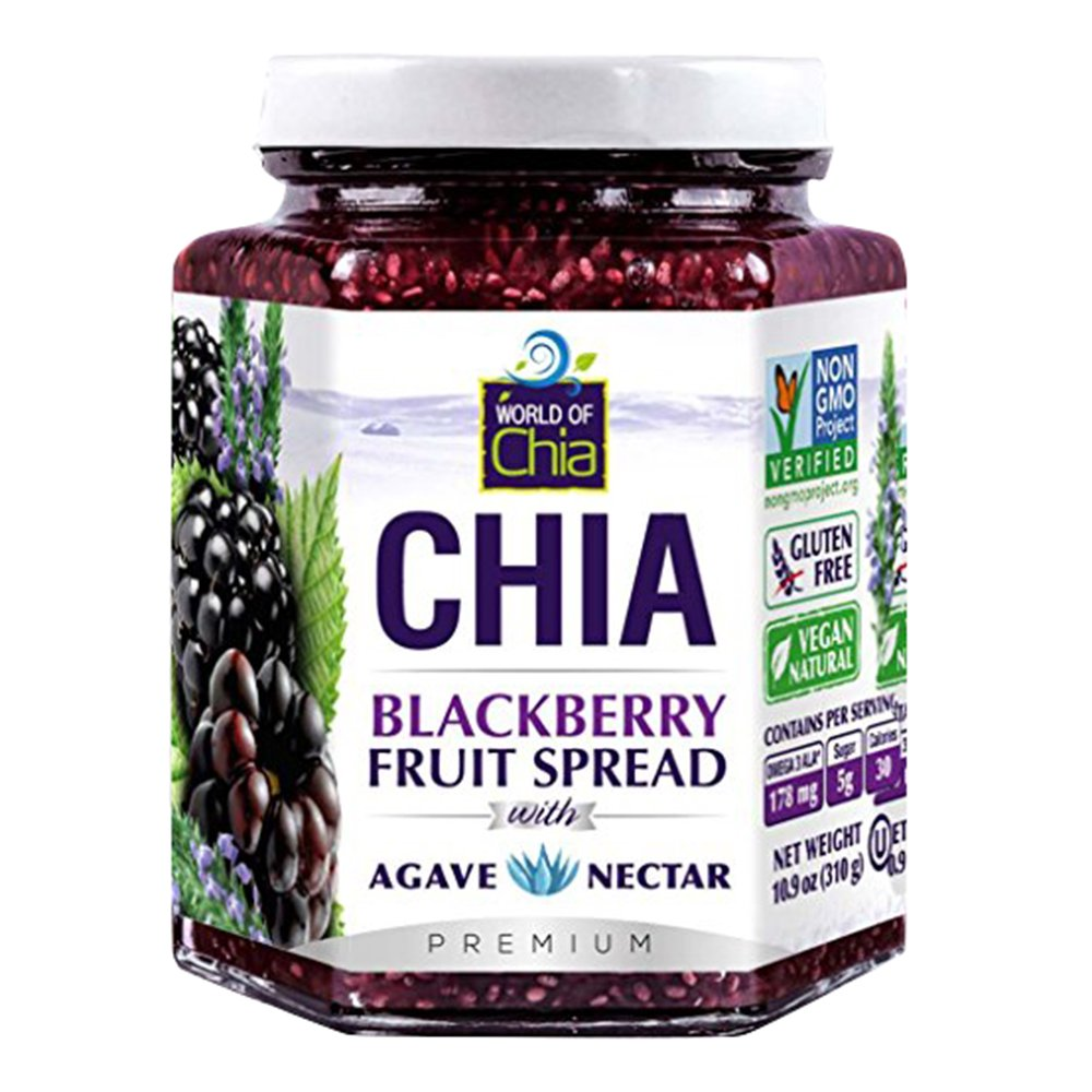 World Of Chia Spread Blackberry Agav, 10.9 oz by World of Chia