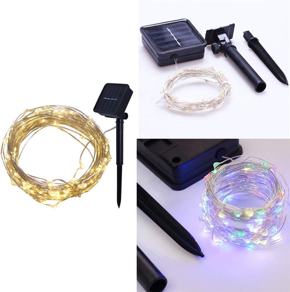 wasserdichte USB Solar Kupferdraht Lichterkette f/ür Weihnachten Partys Garten Hochzeiten Dekoration Kylewo 1//2//5//10//20M USB Lichterkette aussen Warmwei/ß Energieklasse A+++
