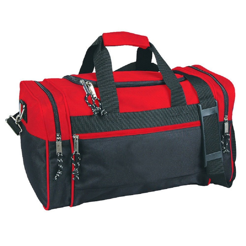Compact Sport Gym Duffle Bags (Red/Black)