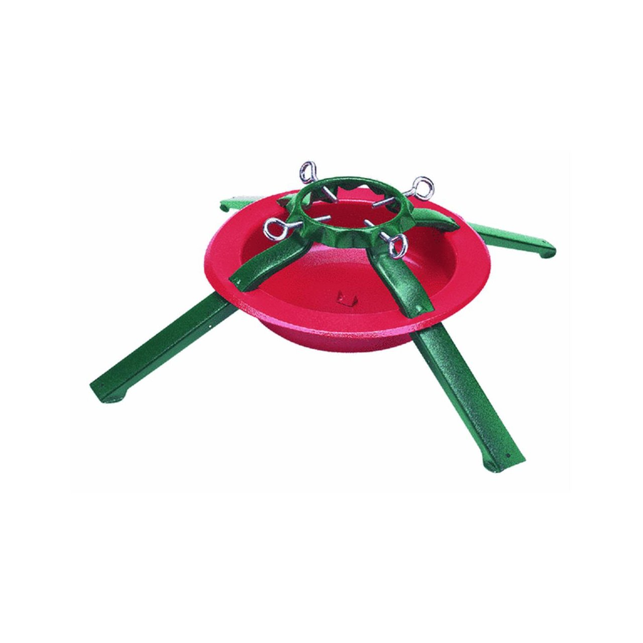 Jack Post National Holiday Traditions Red and Green Metal Tree Stand - Trees Up To 8 Feet Tall Jack Post/Christmas 5180-LC