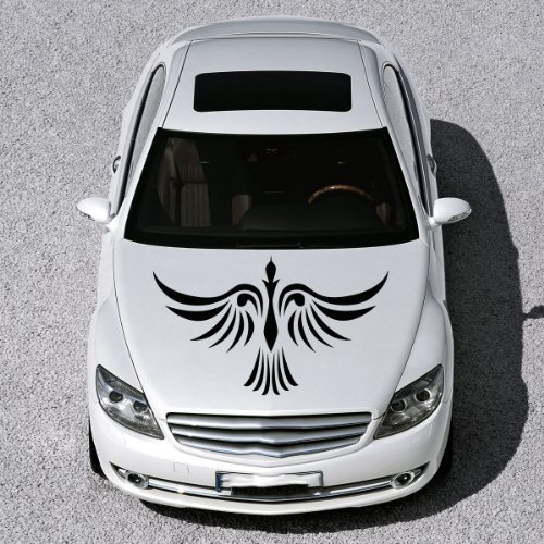 Vinyl Decals for Car Hood Phoenix Bird Tattoo Sticker Art Any Vehicle Window Graphics Mural (4926)