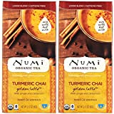 Numi Organic Tea Turmeric Golden Latte Pack of 2 (48 Servings) (Turmeric Chai)