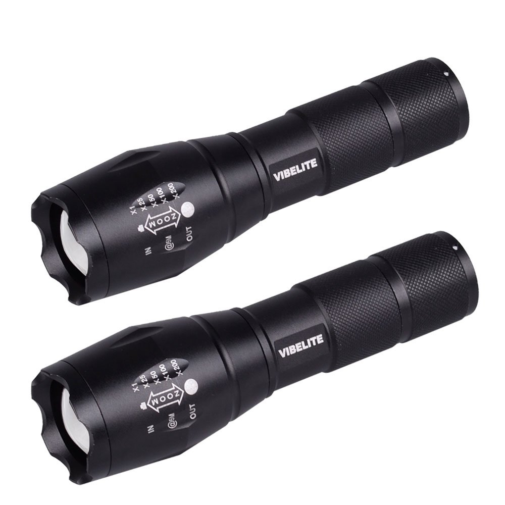 Led Flashlights 2 Pack Portable Ultra Bright Tactical Torch with Adjustable Focus and 5 Light Modes Rechargeable Outdoor Water Resistant Torch for Camping and Hiking Dream Master