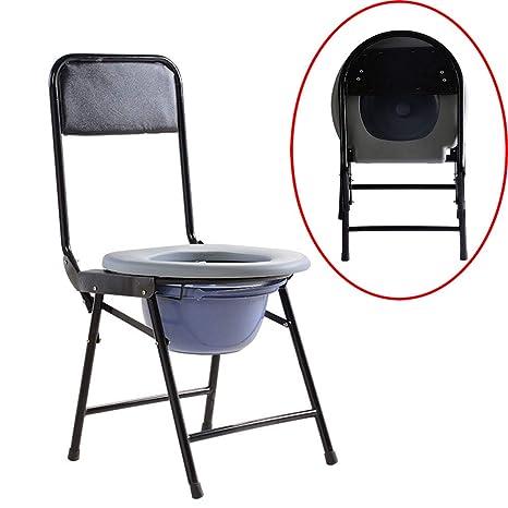 Commode Chair ALY® Silla De Inodoro Plegable, Asiento De ...