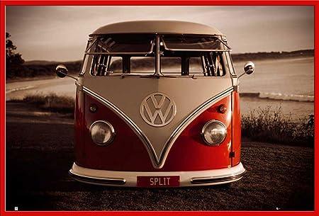 Brendan Ray Volkswagen Camper Van Poster, Split +