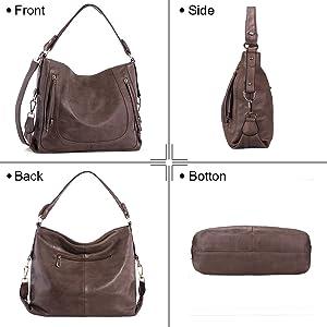 Amazon.com: UTAKE carteras de hombro tipo hobo de cuero ...