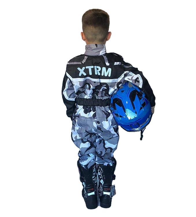 Qtech Bambini Gara Tuta Go Kart Motoctross Karting da Corsa Un Pezzo Vestito XL Nero