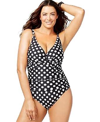 619ab4dac1 Image Unavailable. Image not available for. Color  Lauren Ralph Lauren Plus  Size Polka-dot One-piece Swimsuit
