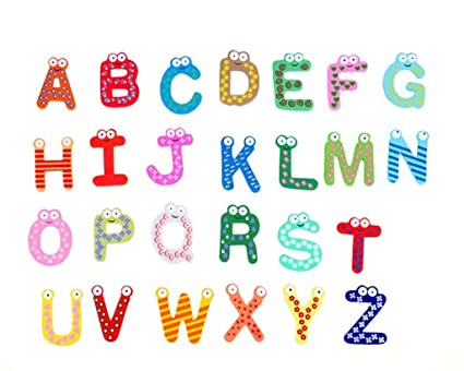 Vale® bebé Juguetes 26pcs Cartas Niños alfabeto de madera ...