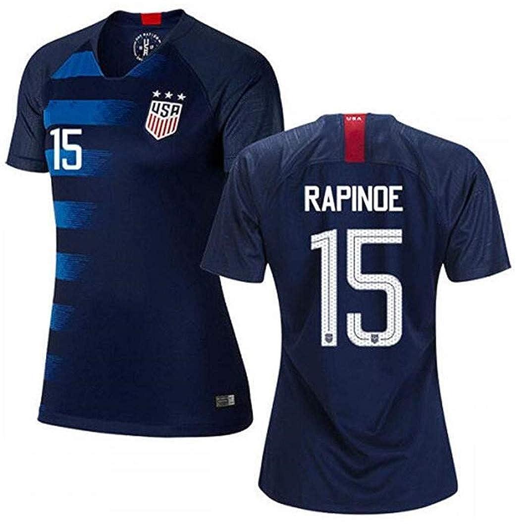 newest ef38f 4e85e LISIMKE Soccer Team USA National Away Megan Rapinoe#15 ...