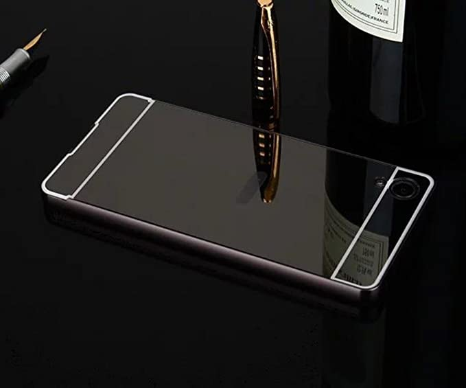 Sony XA1 Mirror Case, Shiny Awesome Make-up Mirror Plated Aluminum Metal Frame Bumper Slim Cover, TAITOU Cool 2 in 1 Ultralight Thin Phone Case for ...