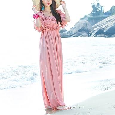 Kleid der Frau Kleid-Riemen-Chiffon- Feiertags-Strand-Kleider der Frauen c1b7c3dd4f