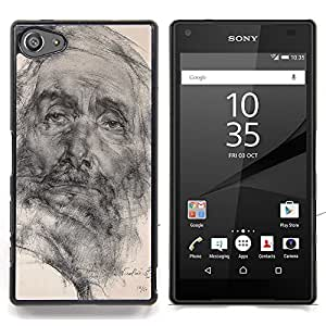 - Art Drawing Pencil Portrait Old Man - - Monedero pared Design Premium cuero del tir???¡¯???€????€???????????&A
