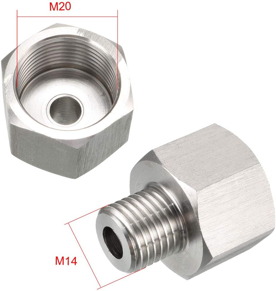 Stainless Steel for Water Oil Air Pressure Gauge uxcell Reducing Pipe Fitting Adapter 3//8 NPT Male to M20 Female