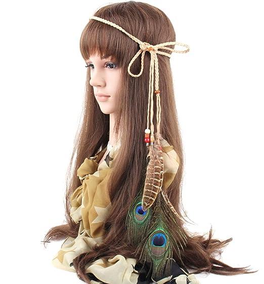 Blank K Feather Boho Chic Hair Band Beach Hair Accecssory Dress