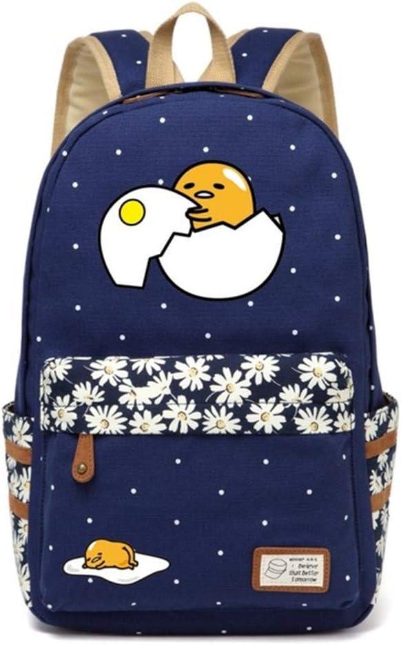 Siawasey Gudetama Lazy Egg Backpack Cartoon Laptop Daypack Shoulder School Bag (A5)