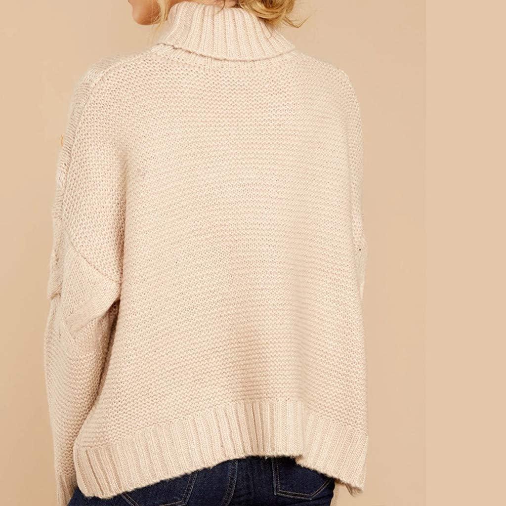 OverDose Jerséis Mujer Cuello Alto Suéter Señorita De Otoño ...
