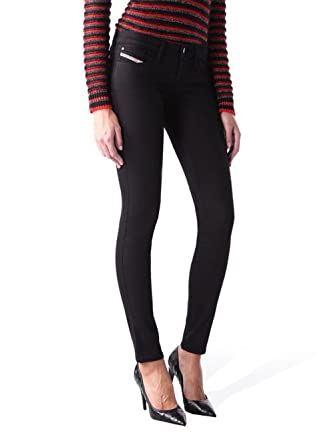 0887bfff Diesel Skinzee-Low 0813E Womens Jeans Pants Skinny (Black, W30/L32):  Amazon.co.uk: Clothing