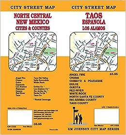 Taos Los Alamos Espanola White Rock Chimayo Nm Street Map