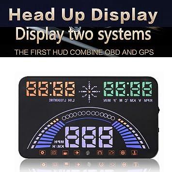 """GPS Sistema Coche HUD 5,8""""Pantalla Parabrisas LED Proyector Cabeza Hasta Pantalla Con"""
