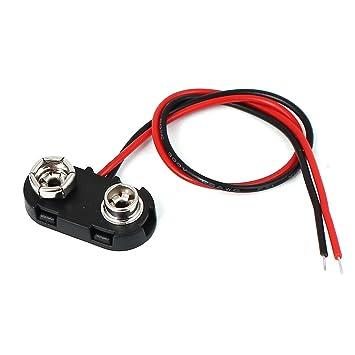 sourcingmap® 9V Batterie Clip Kunststoff T Typ Kappe DIY ...