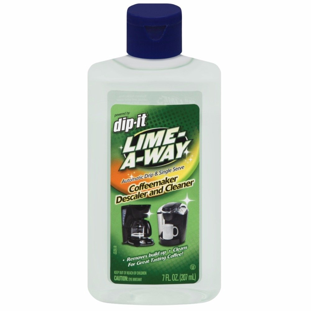 Lime-A-Way Dip-It Coffeemaker Cleaner, 7 fl oz Bottle, Descaler & Cleaner for Drip & Single Serve Coffee Machines (Pack of 7)