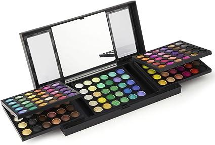 LaRoc® Kit de Maquillaje 180 Color Sombra de Ojos Juego Profesional Set Maquillaje con Espejo: Amazon.es: Belleza