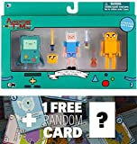 Collector's Pixel Pack (Finn, Jake, BMO): Adventure Time 3 Mini-Figure Set + 1 FREE Official Adventure Time Trading Card Bundle (146094)