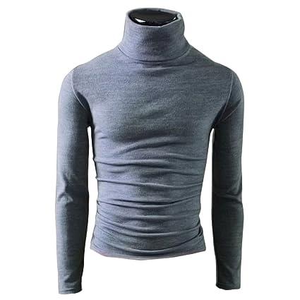 Hombres de Polo cuello ropa de hombre ropa interior térmica Tops Pullovers camiseta de manga larga